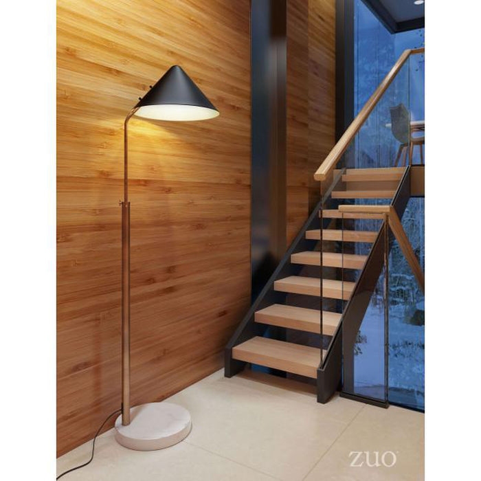 Zuo Pike Floor Lamp Black