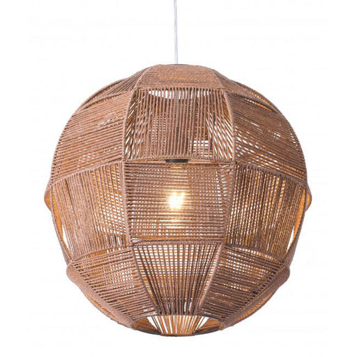 Zuo Florence Ceiling Lamp Brown