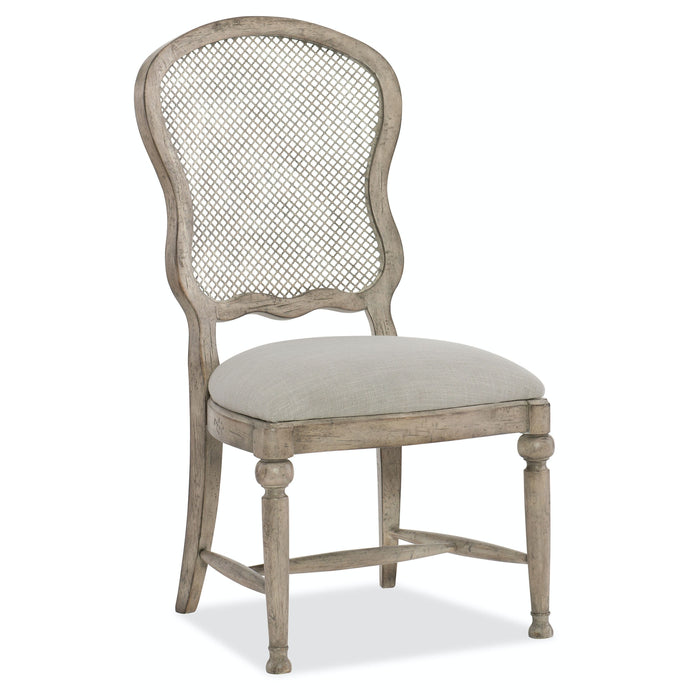 Hooker Furniture Dining Room Boheme Gaston Metal Back Side Chair