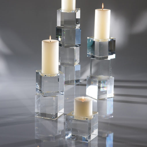 Global Views Escalier Pillar Candle Holder