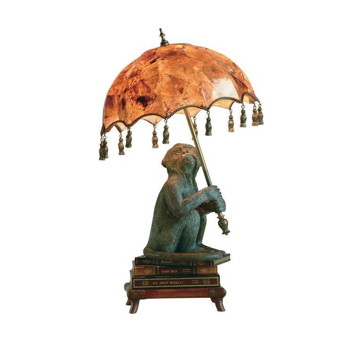 Maitland Smith Parasol Monkey Lamp