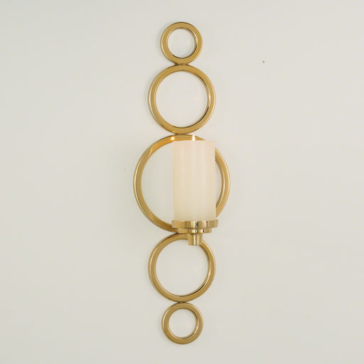 Global Views Progressive Ring Sconce-Brass