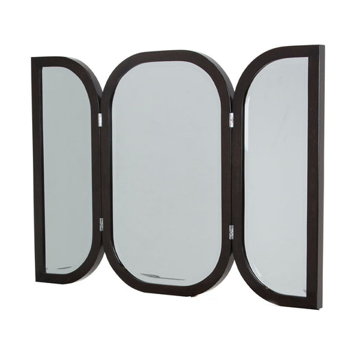 Michael Amini Paris Chic Vanity Wall Mirror Espresso