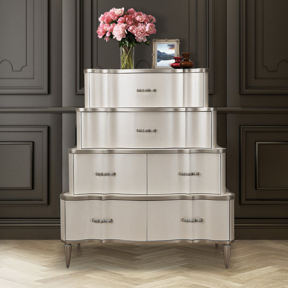 Michael Amini London Place Tiered 6-Drawer Chest (2 Pc)