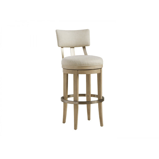 Barclay Butera Malibu Cliffside Swivel Upholstered Bar Stool Available As Shown