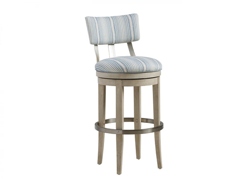 Barclay Butera Malibu Cliffside Swivel Upholstered Bar Stool