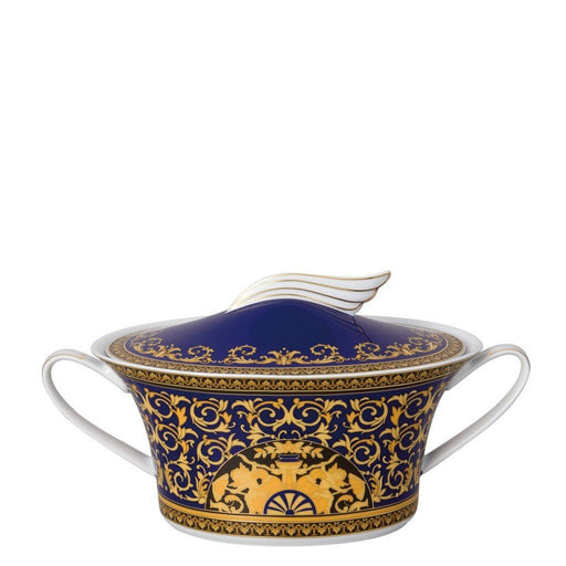 Versace Medusa Blue - Vegetable Bowl, Covered
