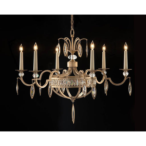 John Richard Marquise Crystal Six-Light Chandelier
