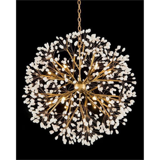 John Richard Spherical Twelve-Light Quartz Chandelier