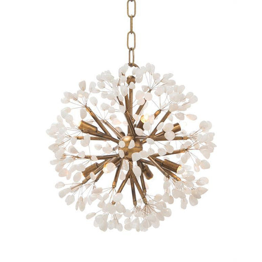 John Richard Ceres: Quartz Crystal Spherical Eight-Light Chandelier