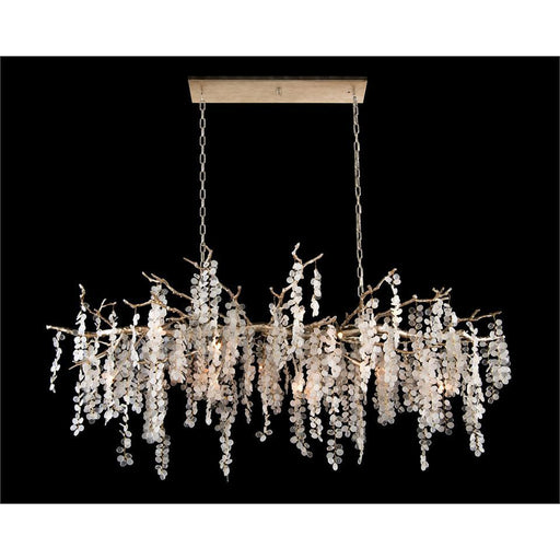 John Richard Shiro-Noda Fifteen-Light Glass Cluster Horizontal Chandelier