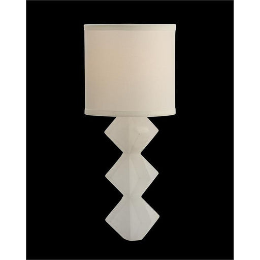 John Richard Alabaster Single-Light Wall Sconce