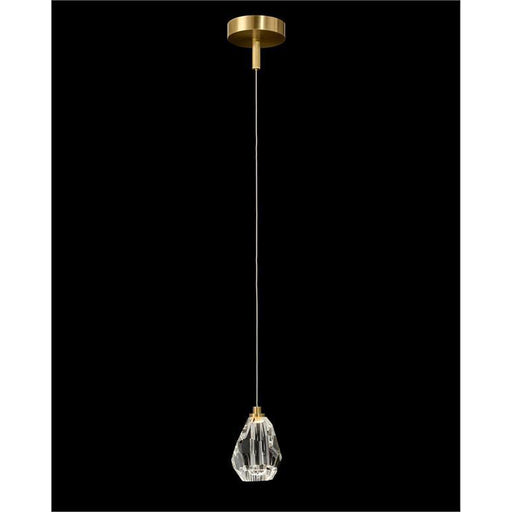 John Richard Faceted Chunk Crystal Single Droplight