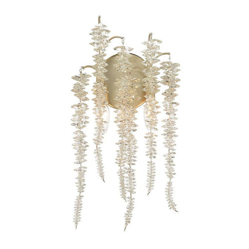John Richard Cascading Crystal Two-Light Wall Sconce