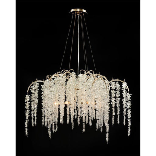 John Richard Cascading Crystal Six-Light Chandelier