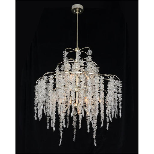 John Richard Cascading Crystal Twelve-Light Chandelier