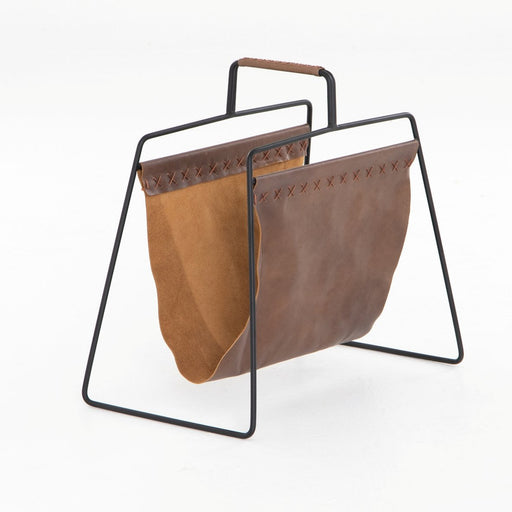 Four Hands Aesop Magazine Rack Patina Brown