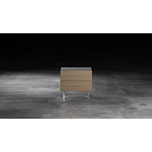 Modloft Broome Nightstand Latte Walnut