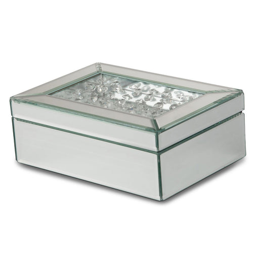 Michael Amini Montreal Mirrored/Crystal Jewelry Box
