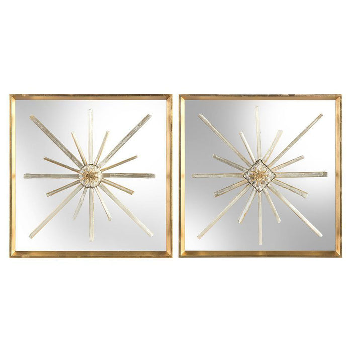 John Richard Set of Two Star-Crossed Circle and Diamond