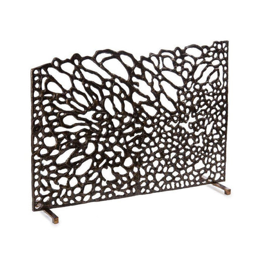 John Richard Organic Fire Screen in Bronze
