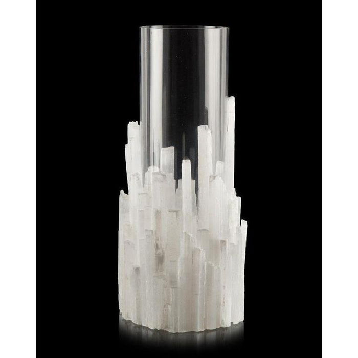 John Richard Natural Selenite Candleholder/Vase
