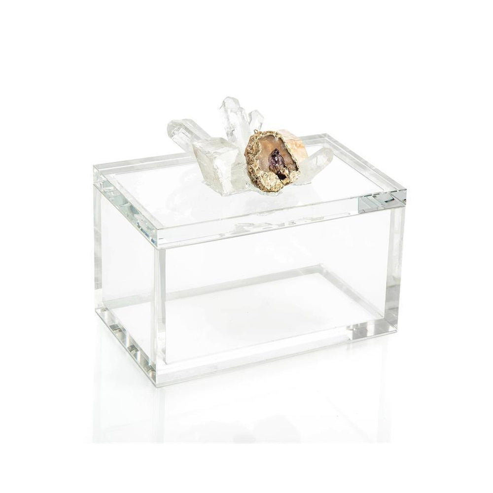 John Richard Crystal and Lemon Quartz Box