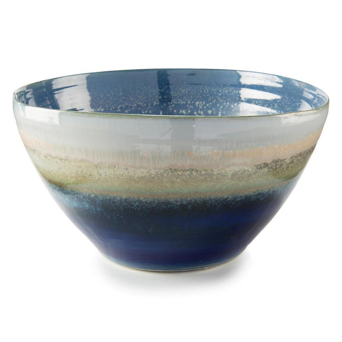 John Richard Reactive Blue and Cream Bowl