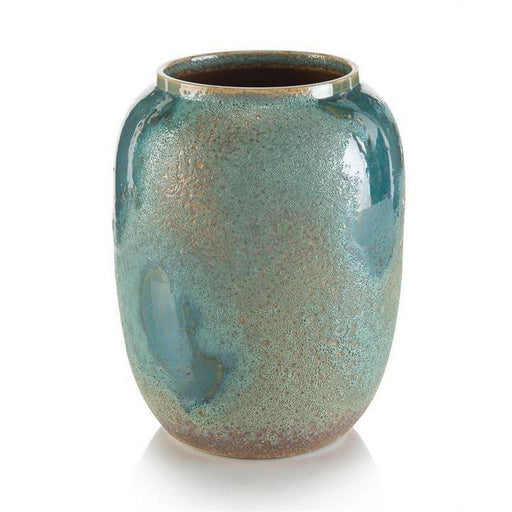 John Richard Sea Foam Porcelain Blue Jar