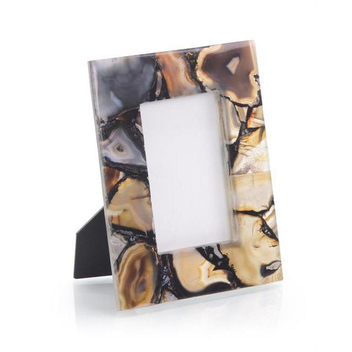 John Richard Rich Browns to Clear Agate Picture Frame