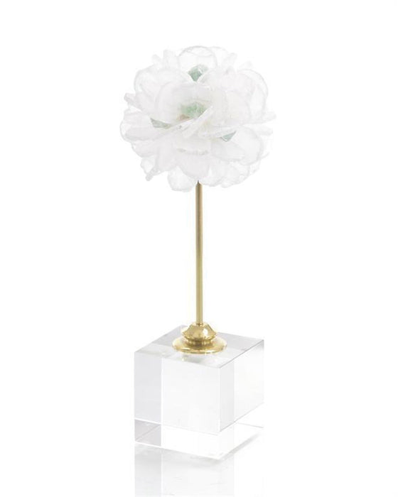 John Richard Floating Selenite Ball on Crystal Stand