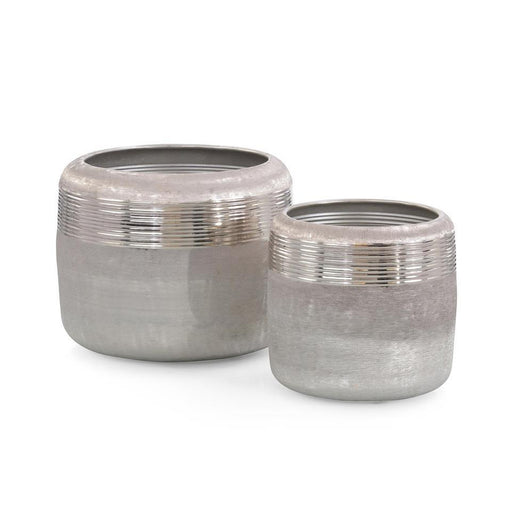 John Richard Set of Two Ribbed Jars