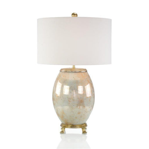 John Richard Melded White and Brass Table Lamp
