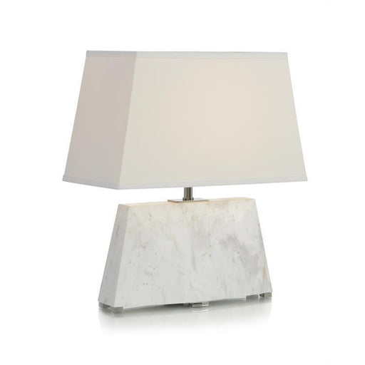 John Richard Cream and Grey Monument Accent Lamp