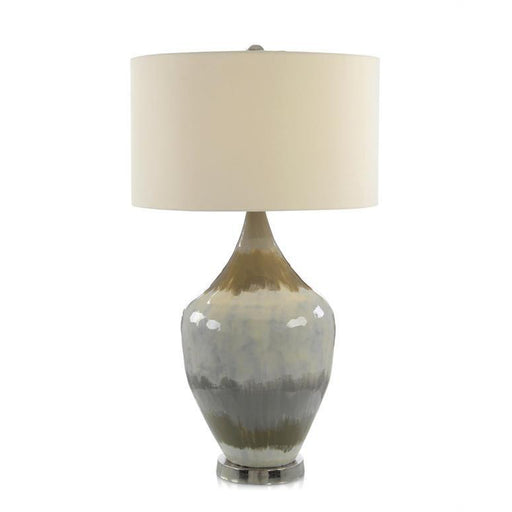 John Richard Enameled Earth Tone Table Lamp