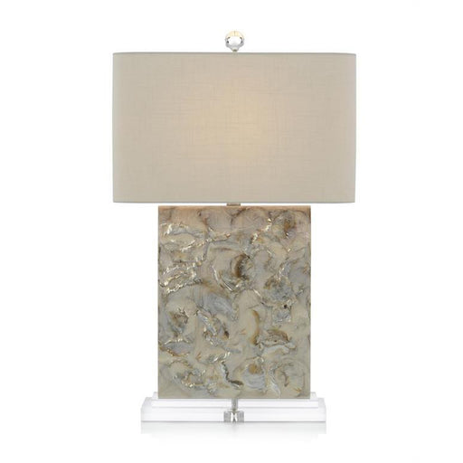 John Richard Creamy White and Sultry Grey Table Lamp