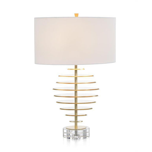 John Richard Acrylic Discs with Gold Leaf Table Lamp