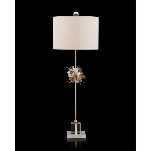John Richard Organic Stones in Gold and White Buffet Lamp