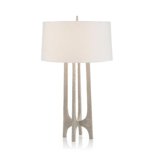 John Richard Textured Arc Table Lamp in Nickel