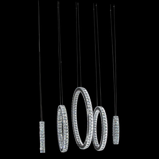 Michael Amini Lighting Solar Hoops Led Chandelier Large