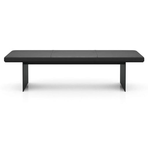 Modloft Chambers Bench in Graphite Leather