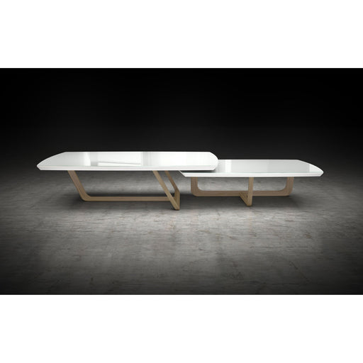 Modloft Belvedere Nesting Coffee Tables in White Glass