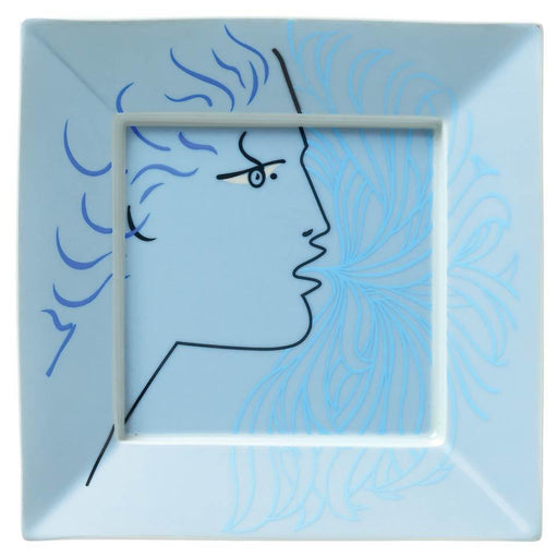 Raynaud Jean Cocteau Blue Square Trinket Tray Gbx