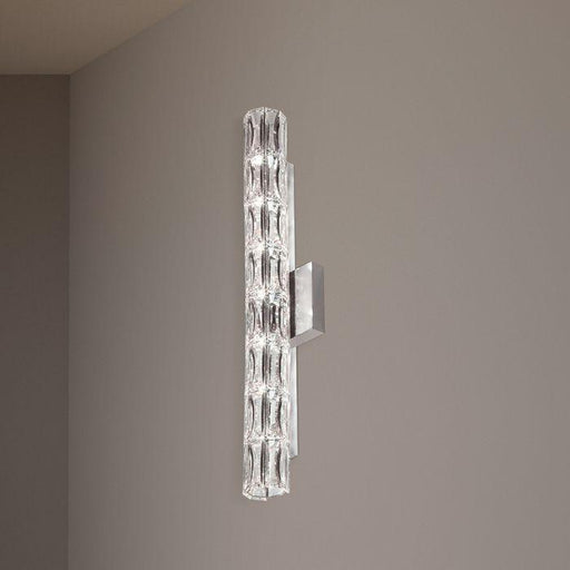 Schonbek SVR625 Verve 7 Light Stainless Steel Wall Sconce