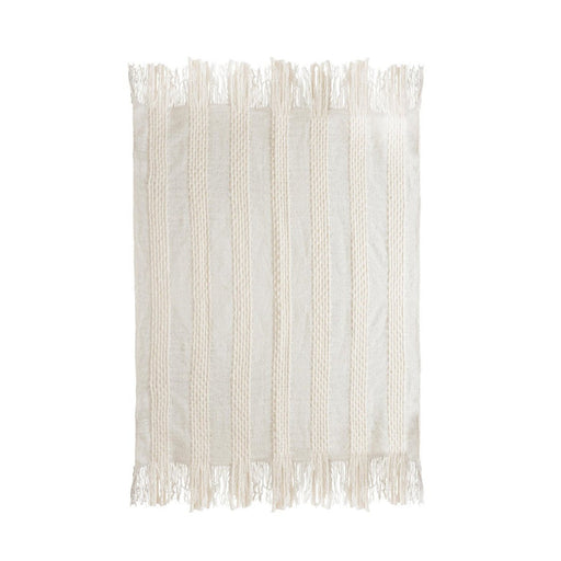 TOV Lima Cotton White Throw