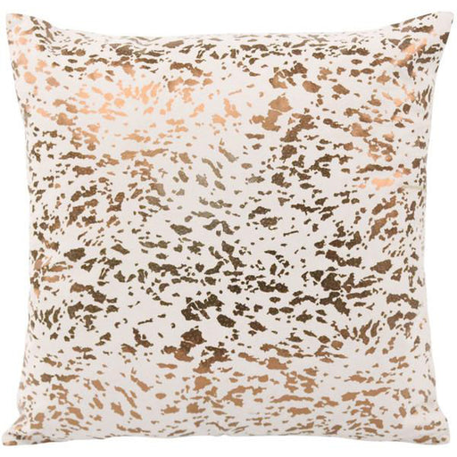 TOV Leather Speckled Gold Pillow
