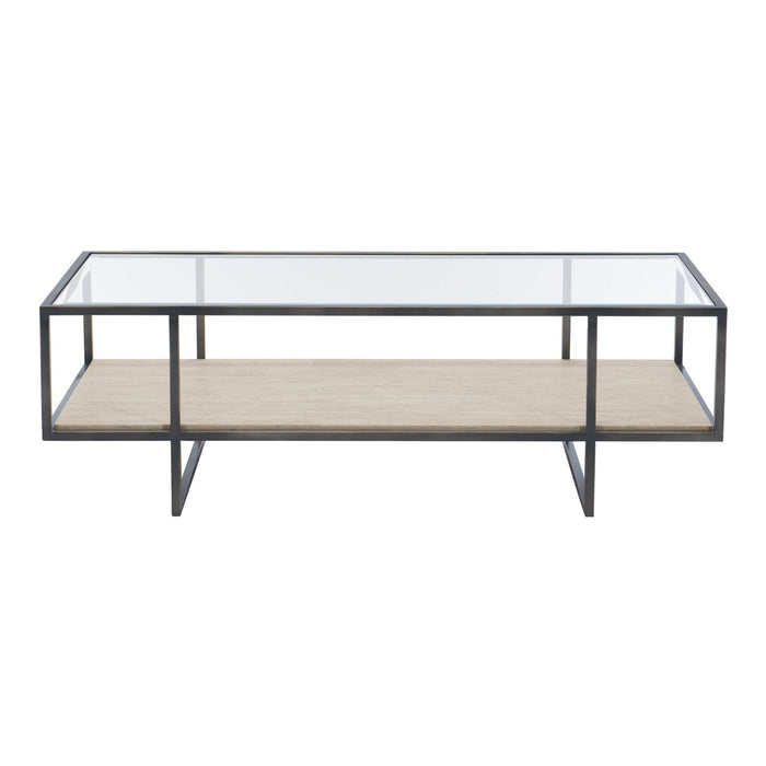 Bernhardt Harlow Metal Rectangular Cocktail Table