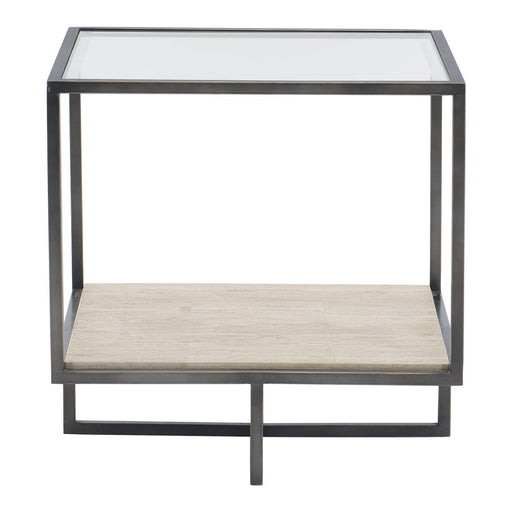 Bernhardt Harlow Metal Square End Table