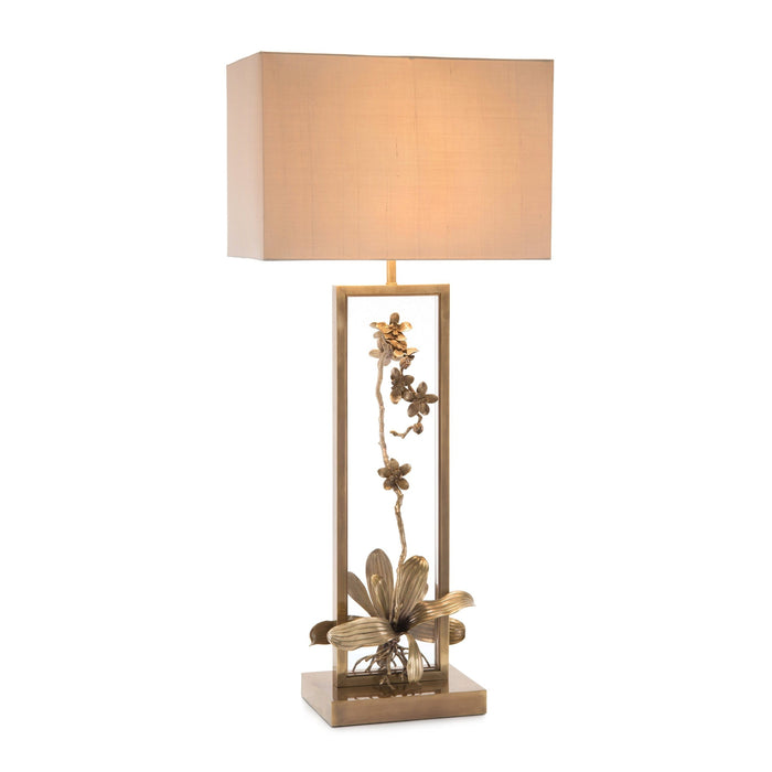 John Richard Blooming Pierced Orchid Table Lamp