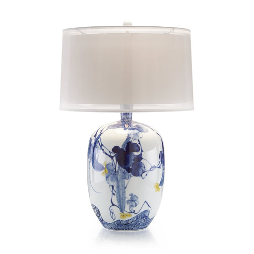 John Richard Blue Asian Gardens Table Lamp